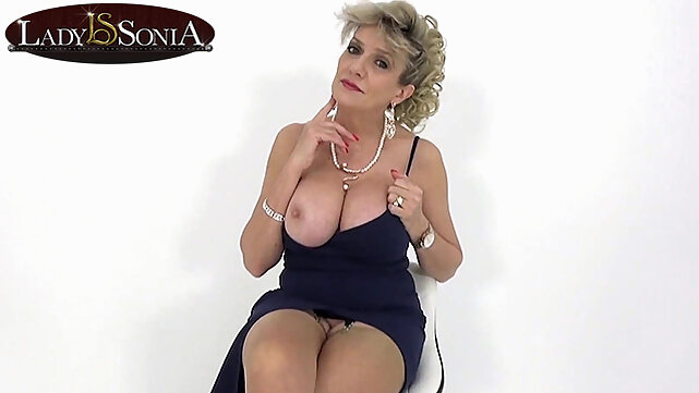 blonde JOI fun with beautiful busty mature Lady Sonia mature