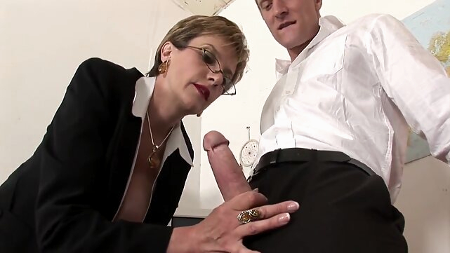 big tits Lady Sonia in British lady fucking on a table blonde
