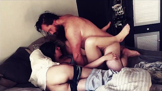 cock Husband and Bestfriend take turns cumming in Wife. 3some
